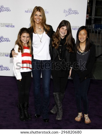 Lori Loughlin at the Los Angeles premiere of 'Justin Bieber: Never Say Never' held at the Nokia Theatre L.A. Live in Los Angeles on February 8, 2011.