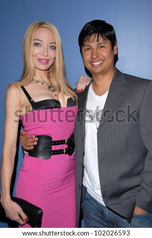 "Lorielle New and Paul Cruz at the Paranoia Film Festival screening of ""Trasharella,""  Los Angeles Film School, Hollywood, CA. 05-15-10"
