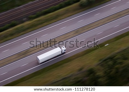 Lorry on a country road