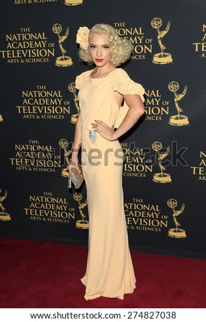 LOS ANGELES - APR 24: Addie Hamilton at The 42nd Daytime Creative Arts Emmy Awards Gala at the Universal Hilton Hotel on April 24, 2015 in Los Angeles, California - stock photo