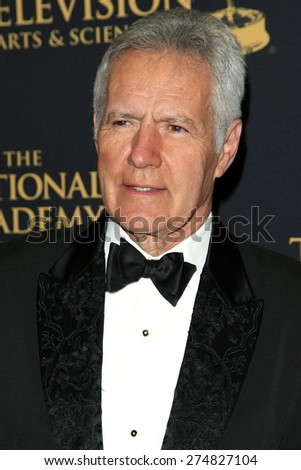 LOS ANGELES - APR 24: Alex Trebek at The 42nd Daytime Creative Arts Emmy Awards Gala at the Universal Hilton Hotel on April 24, 2015 in Los Angeles, California - stock photo