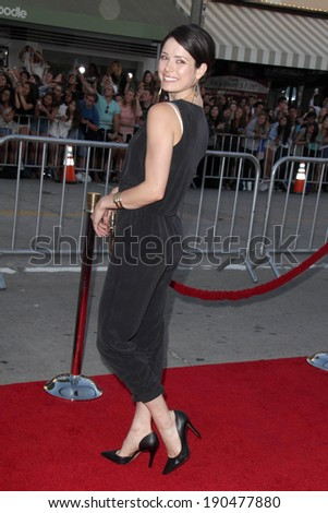 "LOS ANGELES - APR 28:  Ali Cobrin at the ""Neighbors"" Premiere at Village Theater on April 28, 2014 in Westwood, CA - stock photo"