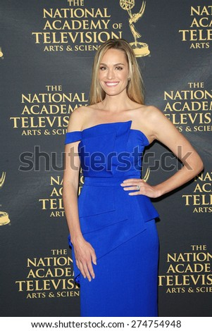 LOS ANGELES - APR 24: Ashlan Gorse at The 42nd Daytime Creative Arts Emmy Awards Gala at the Universal Hilton Hotel on April 24, 2015 in Los Angeles, California - stock photo
