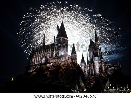 LOS ANGELES - APR 05:  Atmosphere at the Wizarding World of Harry Potter Opening  on April 05, 2016 in Hollywood, CA.                 - stock photo