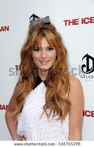 """LOS ANGELES - APR 22:  Bella Thorne arrives at """"The Iceman"""" Premiere at the ArcLight Hollywood Theaters on April 22, 2013 in Los Angeles, CA - stock photo"""