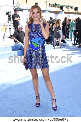LOS ANGELES - APR 12:  Bella Thorne arrives to the MTV Movie Awards 2015  on April 12, 2015 in Hollywood, CA                 - stock photo