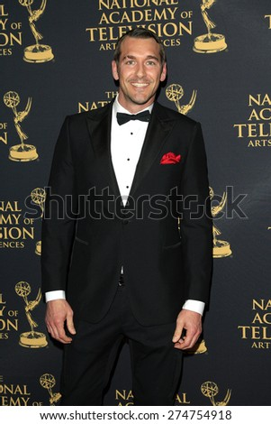 LOS ANGELES - APR 24: Brendan McMillan at The 42nd Daytime Creative Arts Emmy Awards Gala at the Universal Hilton Hotel on April 24, 2015 in Los Angeles, California - stock photo