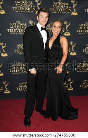 LOS ANGELES - APR 24: Chad Duell, Kristen Alderson at The 42nd Daytime Creative Arts Emmy Awards Gala at the Universal Hilton Hotel on April 24, 2015 in Los Angeles, California - stock photo