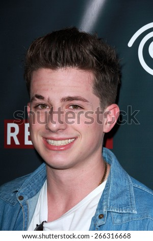 "LOS ANGELES - APR 1:  Charlie Puth at the Live Perfomances from ""Furious 7"" Soundtrack at the REVOLT Live Studios on April 1, 2015 in Los Angeles, CA - stock photo"