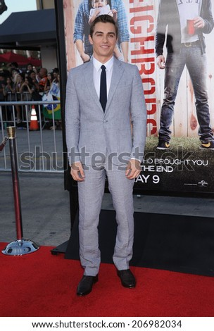"LOS ANGELES - APR 13:  Dave Franco arrives to the ""Neighbors"" World Premiere  on April 28, 2014 in Westwood, CA.                 - stock photo"
