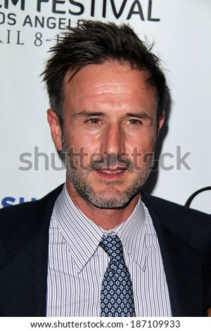 "LOS ANGELES - APR 8:  David Arquette at the Indian Film Festival Premiere of ""Sold"" at ArcLight Hollywood Theaters on April 8, 2014 in Los Angeles, CA"