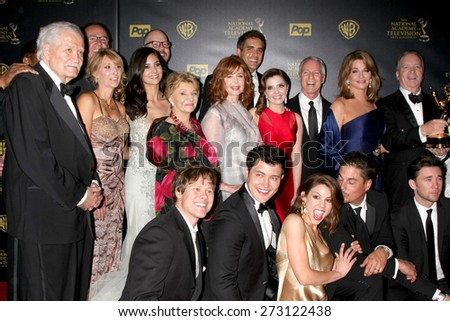 LOS ANGELES - APR 26:  Days of Our Lives Best Drama at the 2015 Daytime Emmy Awards at the Warner Brothers Studio Lot on April 26, 2015 in Los Angeles, CA - stock photo