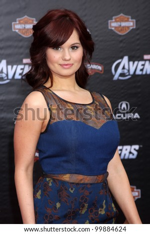 "LOS ANGELES - APR 11:  Debby Ryan arrives at ""The Avengers"" Premiere at El Capitan Theater on April 11, 2012 in Los Angeles, CA"