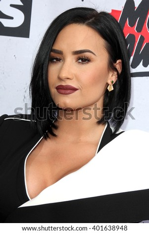 LOS ANGELES - APR 3:  Demi Lovato at the iHeart Radio Music Awards 2016 Arrivals at the The Forum on April 3, 2016 in Inglewood, CA - stock photo
