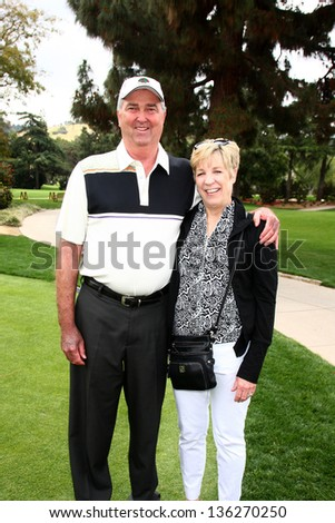 LOS ANGELES - APR 15:  Dennis Wagner. Wife at the Jack Wagner Celebrity Golf Tournament benefitting the Leukemia & Lymphoma Society at the Lakeside Golf Club on April 15, 2013 in Toluca Lake, CA