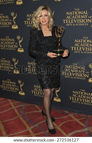 LOS ANGELES - APR 24: Donna Mills at The 42nd Daytime Creative Arts Emmy Awards Gala at the Universal Hilton Hotel on April 24, 2015 in Los Angeles, California
