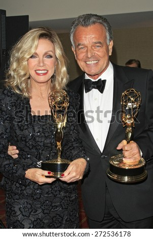LOS ANGELES - APR 24: Donna Mills, Ray Wise at The 42nd Daytime Creative Arts Emmy Awards Gala at the Universal Hilton Hotel on April 24, 2015 in Los Angeles, California - stock photo