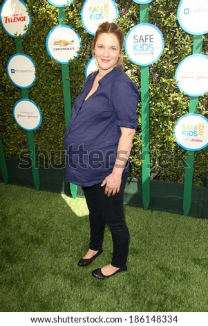 LOS ANGELES - APR 5:  Drew Barrymore at the Safe Kids Day Los Angeles 2014 at The Lot on April 5, 2014 in Wesst Hollywood, CA - stock photo