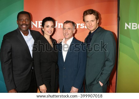 LOS ANGELES - APR 1:  Eamonn Walker, Torrey DeVitto, David Eigenberg, Nick Gehlfuss at the NBC Universal Summer Press Day 2016 at the Four Seasons Hotel on April 1, 2016 in Westlake Village, CA