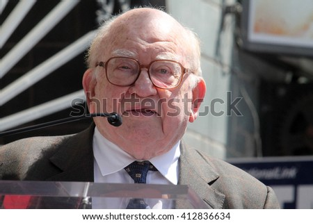 LOS ANGELES - APR 28:  Ed Asner at the Bairbara Bain Hollywood Walk of Fame Star Ceremony at the Hollywood Walk of Fame on April 28, 2016 in Los Angeles, CA - stock photo