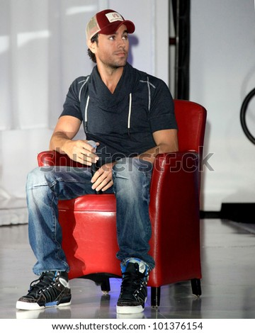 LOS ANGELES - APR 30:  Enrique Iglesias at a press conference for Yandel, Jennifer Lopez and Enrique Iglesias to announce their Summer Tour at Boulevard3 on April 30, 2012 in Los Angeles, CA - stock photo