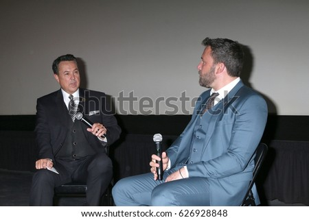 LOS ANGELES - APR 23:  George Pennacchio, Ben Affleck at the 1st Annual AutFest International Film Festival at AMC Orange 30 on April 23, 2017 in Orange, CA