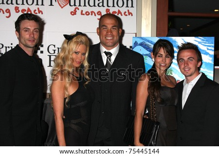 LOS ANGELES - APR 15: Goddard, Jenna Jameson, Tito Ortiz, Elycia Turnbow , Frankie Muniz attending the 2011 Toyota Grand Prix Charity Ball at the Westin Long Beach on April 15, 2011 in Long Beach, CA. - stock photo
