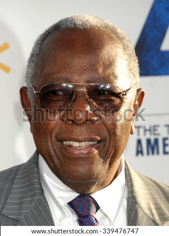 LOS ANGELES - APR 9 - Hank Aaron arrives at the 42 Los Angeles Premiere on April 9,  2013 in Los Angeles, CA