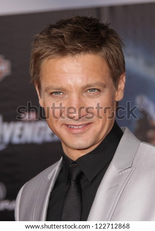 "LOS ANGELES - APR 11:  Jeremy Renner ""The Avengers"" World Premiere  on April 11, 2012 in Hollywood, CA"
