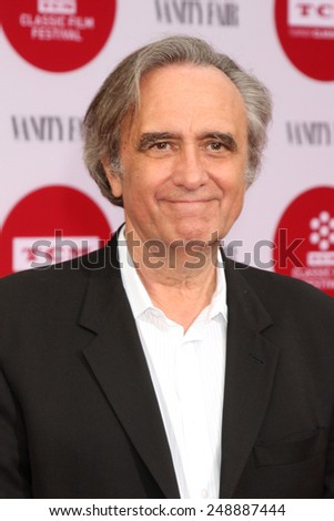 """LOS ANGELES - APR 10:  Joe Dante at the """"Oklahoma"""" Restoration Premiere at the Opening Night Gala 2014 TCM Classic Film Festival at TCL Chinese Theater on April 10, 2014 in Los Angeles, CA - stock photo"""