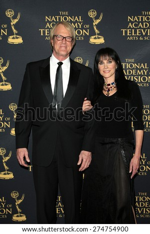 LOS ANGELES - APR 24: John Tesh, Connie Selleca at The 42nd Daytime Creative Arts Emmy Awards Gala at the Universal Hilton Hotel on April 24, 2015 in Los Angeles, California - stock photo