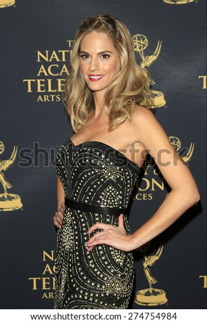 LOS ANGELES - APR 24: Kelly Kruger at The 42nd Daytime Creative Arts Emmy Awards Gala at the Universal Hilton Hotel on April 24, 2015 in Los Angeles, California - stock photo