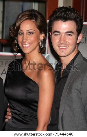 LOS ANGELES - APR 15:  Kevin Jonas & Wife Danielle attending the 2011 Toyota Grand Prix Charity Ball at Westin Long Beach on April 15, 2011 in Long Beach, CA. - stock photo