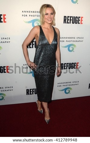 LOS ANGELES - APR 21:  Kristen Bell at the Annenberg Space for Photography presents REFUGEE at the Annenberg Space for Photography on April 21, 2016 in Century City, CA - stock photo