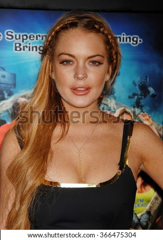 LOS ANGELES - APR 11 - Lindsay Lohan arrives at the Scary Movie V Los Angeles Premiere on April 11, 2013 in Los Angeles, CA
