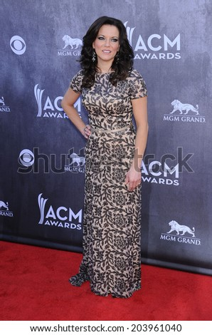 LOS ANGELES - APR 06:  Martina McBride arrives to the 49th Annual Academy of Country Music Awards   on April 06, 2014 in Las Vegas, NV.                 - stock photo