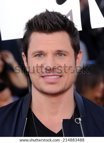 LOS ANGELES - APR 13:  Nick Lachey arrives to the 2014 MTV Movie Awards  on April 13, 2014 in Los Angeles, CA.