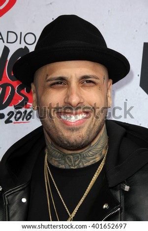 LOS ANGELES - APR 3:  Nicky Jam at the iHeart Radio Music Awards 2016 Arrivals at the The Forum on April 3, 2016 in Inglewood, CA