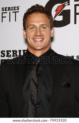 LOS ANGELES - APR 12:  Ryan Lochte at the 'Gatorade G Series Fit Launch Event' at the SLS Hotel in Los Angeles, California on April 12, 2011.