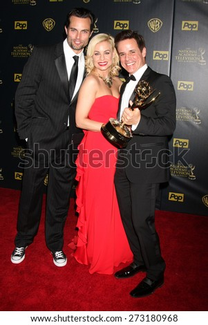 LOS ANGELES - APR 26:  Scott Elrod, Jessica Collins, Christian LeBlanc at the 2015 Daytime Emmy Awards at the Warner Brothers Studio Lot on April 26, 2015 in Los Angeles, CA