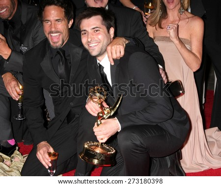 LOS ANGELES - APR 26:  Shawn Christian, Freddie Smith at the 2015 Daytime Emmy Awards at the Warner Brothers Studio Lot on April 26, 2015 in Los Angeles, CA - stock photo