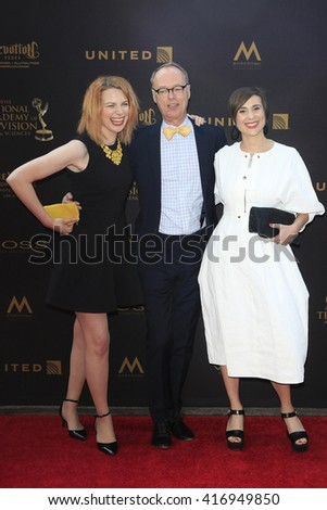 LOS ANGELES - APR 29: Stephanie Stender, Christopher Kimball, Melissa Baldino at The 43rd Daytime Creative Arts Emmy Awards Gala at the Westin Bonaventure Hotel on April 29, 2016 in Los Angeles, CA - stock photo