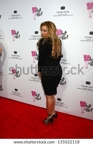 """LOS ANGELES - APR 13:  Taylor Dayne arrives at the """"What A Pair!"""" Benefit Concert  at the The Broad Stage  on April 13, 2013 in Santa Monica, CA - stock photo"""