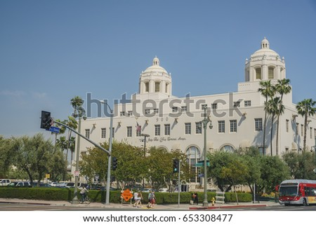 Los Angeles, APR 11: The U.S. Post Office-Los Angeles Terminal Annex on APR 11, 2017 at Los Angeles