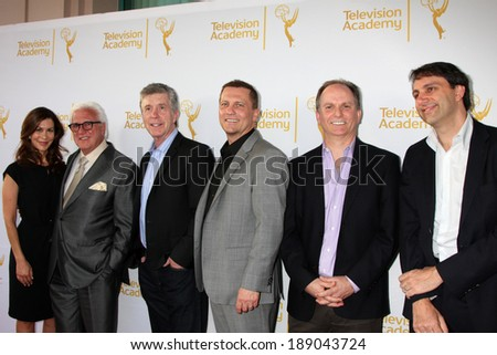 "LOS ANGELES - APR 9:  Tom Bergeron and Executives at the An Evening with ""America's Funniest Home Videos"" at Academy of Television Arts and Sciences on April 9, 2014 in North Hollywood, CA - stock photo"