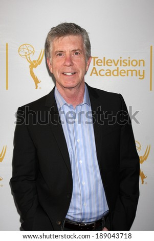 "LOS ANGELES - APR 9:  Tom Bergeron at the An Evening with ""America's Funniest Home Videos"" at Academy of Television Arts and Sciences on April 9, 2014 in North Hollywood, CA - stock photo"