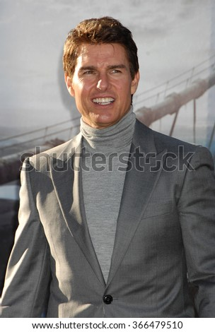 LOS ANGELES - APR 10 - Tom Cruise arrives at the Oblivion American Premiere on April 10, 2013 in Los Angeles, CA              - stock photo