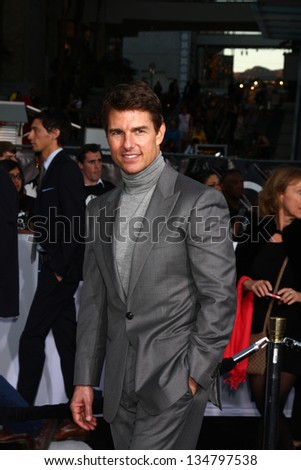 "LOS ANGELES - APR 10:  Tom Cruise arrives at the ""Oblivion"" Premiere at the Dolby Theater on April 10, 2013 in Los Angeles, CA"