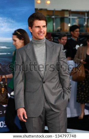 "LOS ANGELES - APR 10:  Tom Cruise arrives at the ""Oblivion"" Premiere at the Dolby Theater on April 10, 2013 in Los Angeles, CA - stock photo"