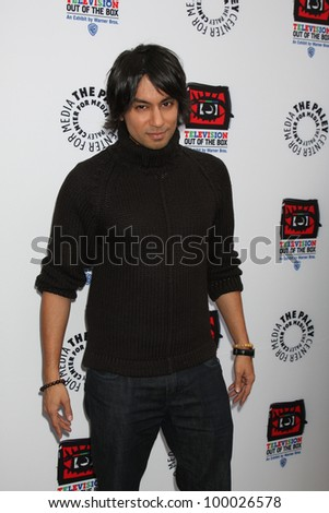 "LOS ANGELES - APR 12:  Vik Sahay arrives at Warner Brothers ""Television: Out of the Box"" Exhibit Launch at Paley Center for Media on April 12, 2012 in Beverly Hills, CA - stock photo"